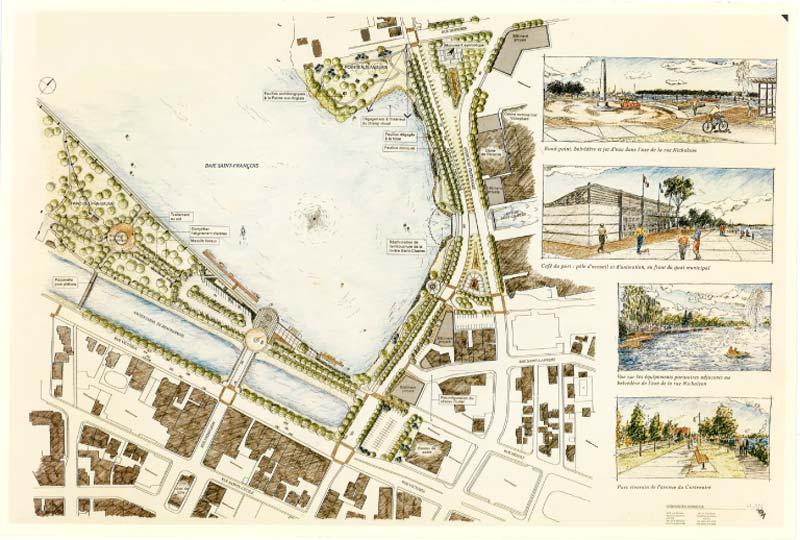 Planification du développement · Mise en valeur de la Baie Saint-François (concept)