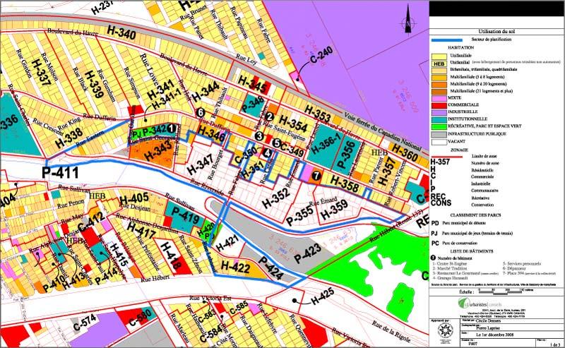 Planification du développement · Utilisation du sol et Zonage