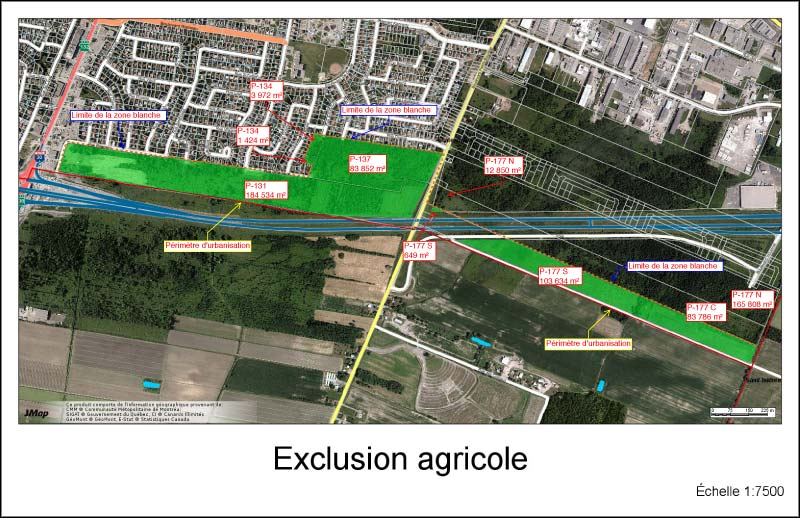 Zone agricole · Exclusion CPTAQ